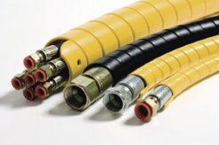 39778 8128652 Protectie pentru furtune hidraulice rola 20 m   SAFESPIRAL 75 mm, negru   Safeplast - SHOP unilift.ro