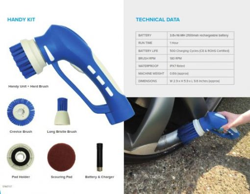 motorscrubber handy Perie electrica pentru curatarea spatiilor inguste | HandyKit | MotorScrubber - Magazin Online Unilift Serv