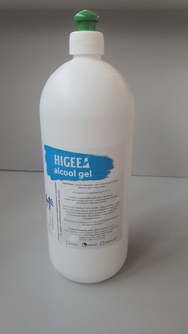 20200410 172649 scaled scaled Gel dezinfectant pentru maini pe baza de alcool 1000 ml | Higeea - Magazin Online Unilift Serv