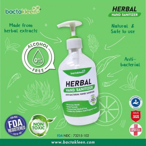 619c3e1a05c9b44432688586ebbdd93f Solutie dezinfectanta pentru maini din extracte naturale 500 ml | Herbal Hand Sanitizer | BactaKleen - SHOP unilift.ro