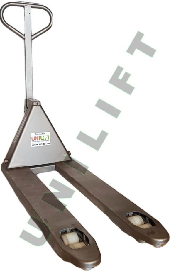 Transpalet Inox 7 ok Traspalet manual din otel-inoxidabil   Climax - Magazin Online Unilift Serv
