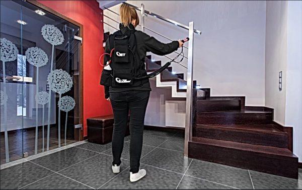 desziewd Sistem de dezinfectie portabil cu acumulator | STORM Complete | MotorScrubber - Magazin Online Unilift Serv Kit dezinfectie
