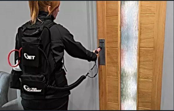 fefe 1 Sistem de dezinfectie portabil cu acumulator | STORM Complete | MotorScrubber - Magazin Online Unilift Serv Kit dezinfectie