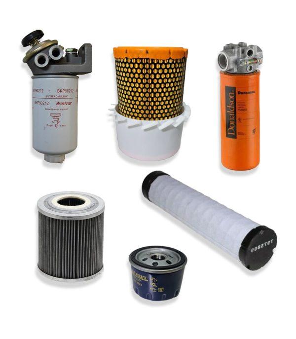 Kituri complete 4 min 1 Kit filtre service pentru stivuitor Clark - CQ30D - Magazin Online Unilift Serv